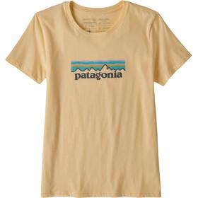 Patagonia Pastel P-6 Logo Organic T-shirt manches longues à col ras-du-cou Femme, vela peach